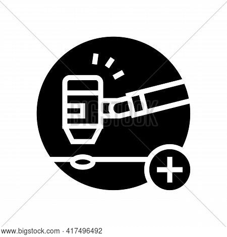 General Dermatology Clinic Glyph Icon Vector. General Dermatology Clinic Sign. Isolated Contour Symb