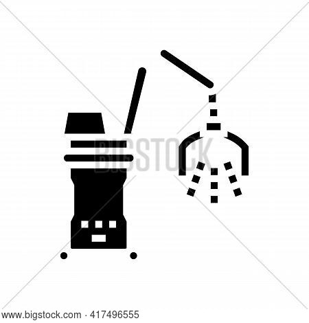 Photodynamic Therapy Glyph Icon Vector. Photodynamic Therapy Sign. Isolated Contour Symbol Black Ill