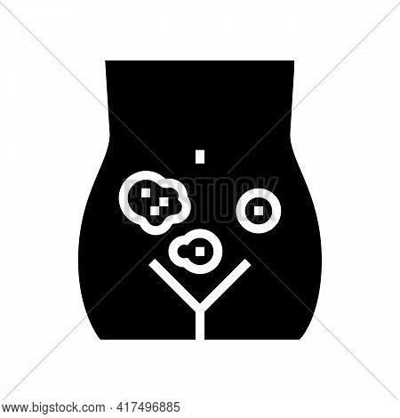 Genital Dermatology Clinic Glyph Icon Vector. Genital Dermatology Clinic Sign. Isolated Contour Symb