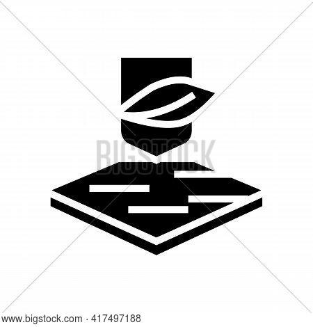 Soft Fabrics Properties Glyph Icon Vector. Soft Fabrics Properties Sign. Isolated Contour Symbol Bla