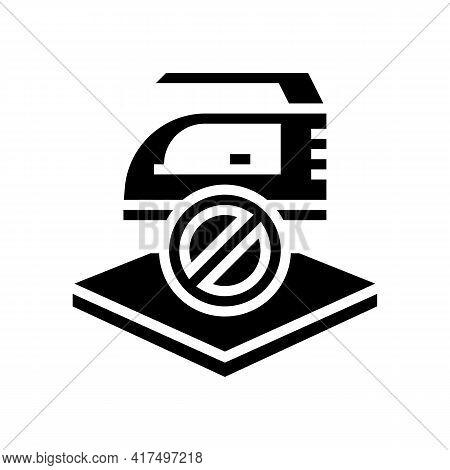 Do Not Iron Fabrics Properties Glyph Icon Vector. Do Not Iron Fabrics Properties Sign. Isolated Cont