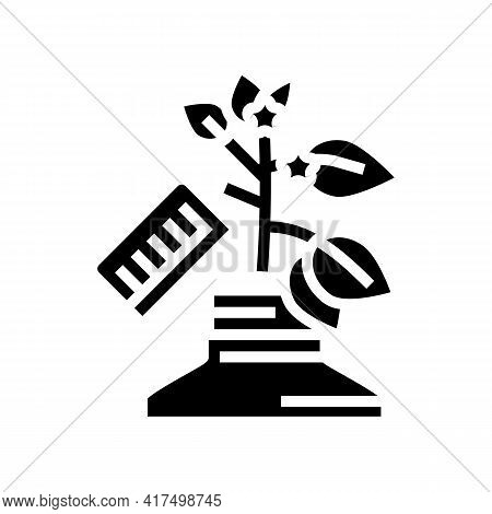 Growing Homeopathy Plant Glyph Icon Vector. Growing Homeopathy Plant Sign. Isolated Contour Symbol B