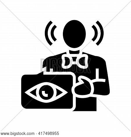 Witness Law Dictionary Glyph Icon Vector. Witness Law Dictionary Sign. Isolated Contour Symbol Black