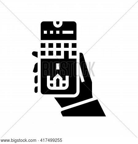 Mobile Games Mens Leisure Glyph Icon Vector. Mobile Games Mens Leisure Sign. Isolated Contour Symbol