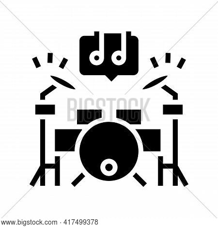 Play Musical Instrument Mens Leisure Glyph Icon Vector. Play Musical Instrument Mens Leisure Sign. I