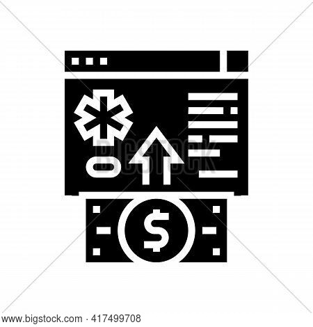 Donation For Refugee Glyph Icon Vector. Donation For Refugee Sign. Isolated Contour Symbol Black Ill