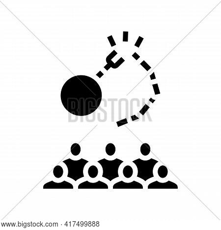 Freedom Of Refugee Glyph Icon Vector. Freedom Of Refugee Sign. Isolated Contour Symbol Black Illustr