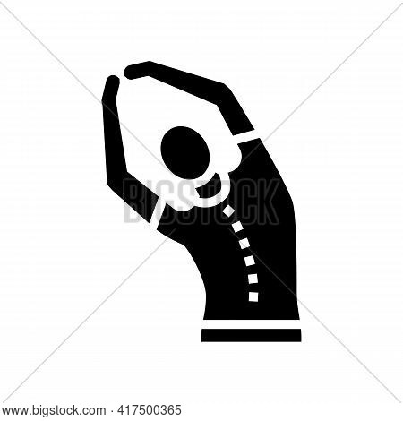 Stretching Scoliosis Glyph Icon Vector. Stretching Scoliosis Sign. Isolated Contour Symbol Black Ill
