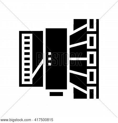 Silk Thread Production Industry Machine Glyph Icon Vector. Silk Thread Production Industry Machine S