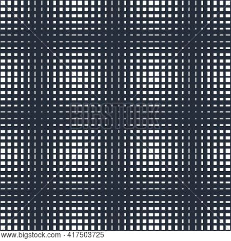 Abstract Crossed Lines Seamless Pattern, Vector Background With Cross Stripes, Lined Design Minimali