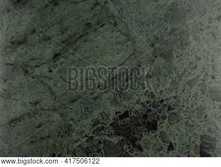 Surface Of Natural Dark Green Marble Texture. Natural Green Marble Pattern. Marble Background. Natur