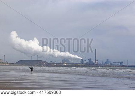 Port Talbot Steelworks From Aberavon Beach, Wales