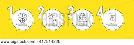 Brainstorming, Magistrates Court And Web Mail Line Icons Set. Timeline Process Infograph. Technical
