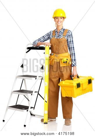 Young Builder Woman