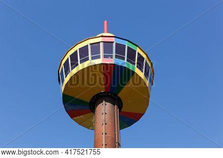 Billund, Denmark - May 14, 2016: The Observation Tower In Legoland Park In Billund, Denmark