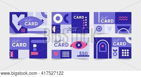 Gift Cards, Vouchers, Invitation Cards, Posters, Greetings, Banners, Prints, Backgrounds. Bauhaus In