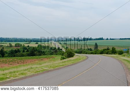 View Of Fields And Forests Of Prince Edward Island
