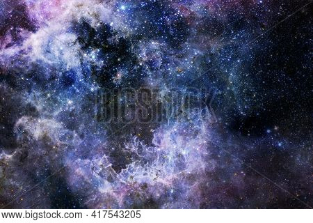 Endless Universe. Elements Of This Image Furnished By Nasa.