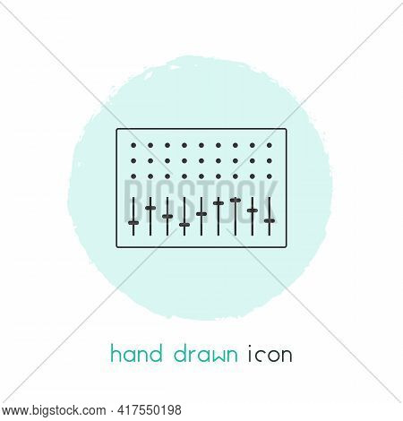 Mixer Icon Line Element. Vector Illustration Of Mixer Icon Line Isolated On Clean Background For You
