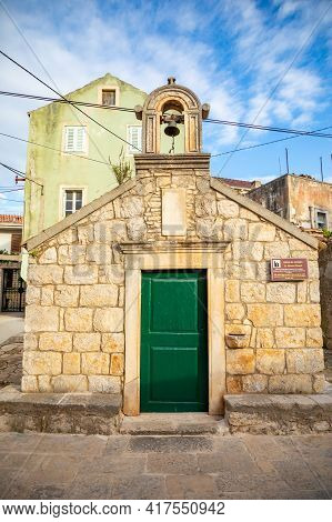 St. Vinsent Church In Old Town Of Vela Luka, Korcula Island, Croatia