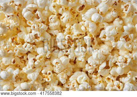 Full frame of fresh popcorn snack