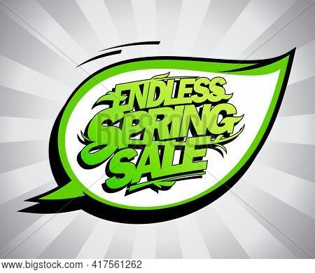 Endless spring sale poster design concept, fashion clearance banner, rasterized version