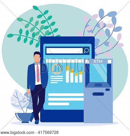 Modern Style Vector Illustration, Investment Concept ,. Profitable Income. Transfer Of Business Inco