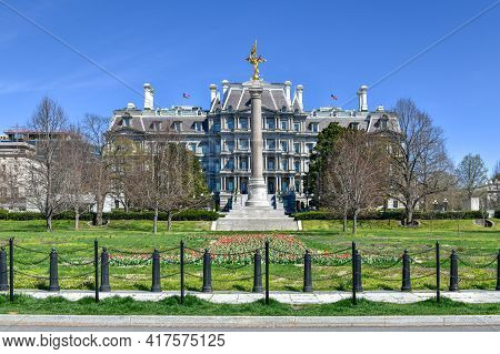 Washington, Dc - Apr 3, 2021: The First Division Monument, Tribute To Those Who Died While Serving I