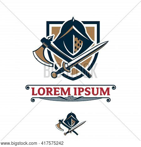Gladiator Head Insignia Vector Symbol Template For Esport Logo, Brand, Tshirt, Or Any Other Purpose.