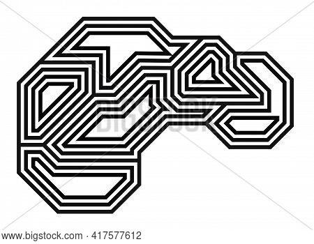 Brain, Thin Line Icon. Memory Symbol. Tech Logo Design. Vector Illustration.