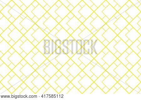 The Geometric Pattern With Lines. Seamless Vector Background. White And Yellow Texture. Graphic Mode