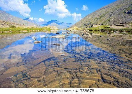Gebirge mit ihrer Ãœberlegungen in den Gletschersee
