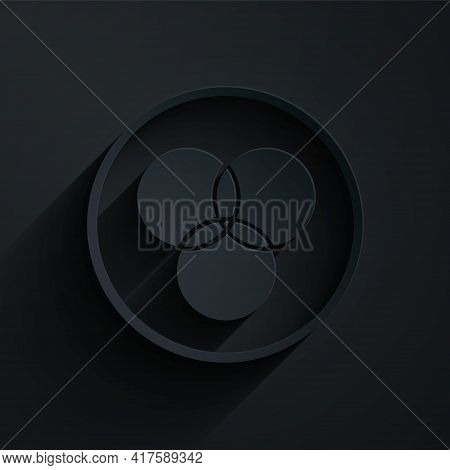 Paper Cut Rgb And Cmyk Color Mixing Icon Isolated On Black Background. Paper Art Style. Vector