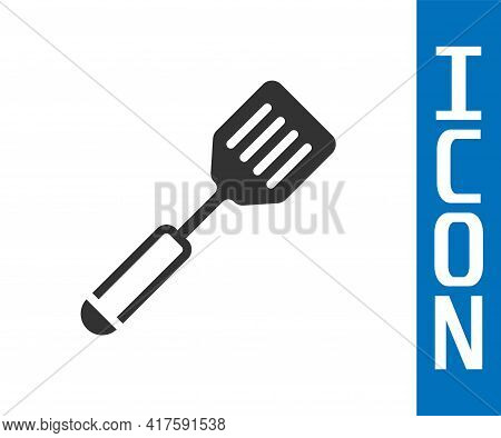 Grey Spatula Icon Isolated On White Background. Kitchen Spatula Icon. Bbq Spatula Sign. Barbecue And