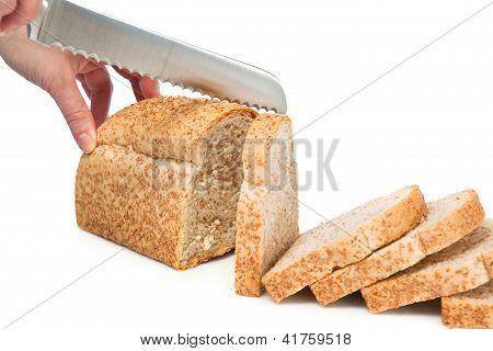 Knife Cutting Bread