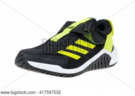Varna , Bulgaria - March 2, 2021 : Adidas 4uture Sport Sport Shoe, Isolated. Product Shot. Adidas Is