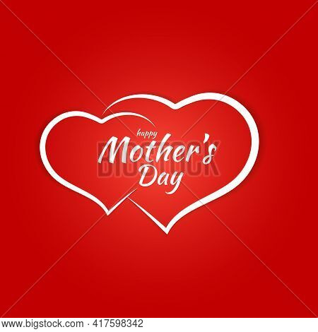 Happy Mother's Day Congratulation Background Card. Vector Illustration