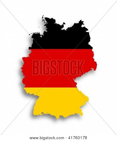 Map Of The Federal Republic Of Germany