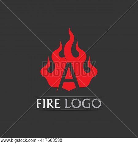 A Logo And Fire Flame Vector Illustration Design Template Power, Hot, Icon, Logo, Light, Devil, Blaz