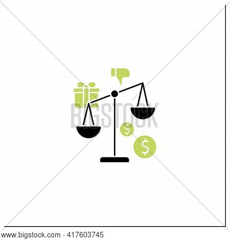 Inequality Glyph Icon. Economical Injustice.gap Between Rich And Poor, Wealth Disparity. Scales.univ