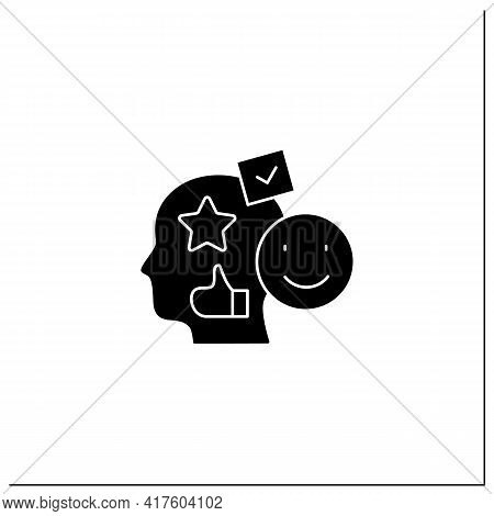 Accounting Goodwill Glyph Icon. Intangible Asset. Buyer Acquires An Existing Business.benevolence. A