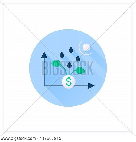 Economic Revival Flat Icon. Development And Economic Growth After Crisis Period. Profit. Business Co