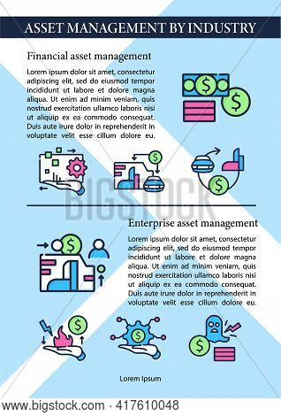 Asset Management Industry Brochure.advertisement With Information Template.flyer, Magazine, Poster,