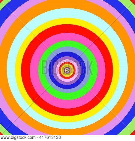 Psychedelic Hypnotic Infinite Round. Artistic Spiral Shape. Vector Drawing