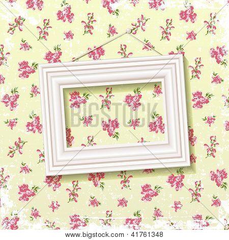 Frame On Floral Background