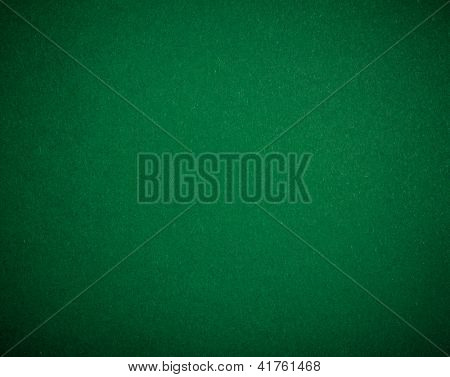 Poker table felt background in green color poster