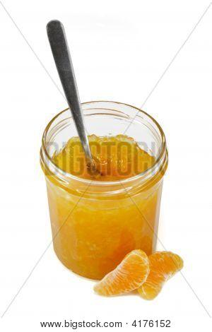 Tangerine Jam With Spoon