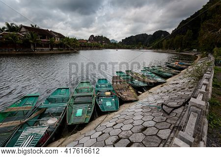Tam Coc Boats Vietnam Landscape