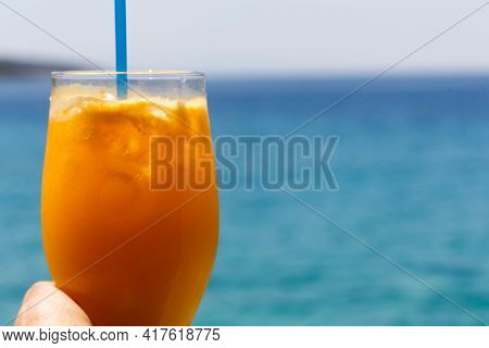 Clear Turquoise Water Rocky Beach Of Porto Germeno, Attica, Greece