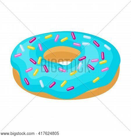Doughnut Cartoon Vector Illustration Of Icon.isolated Illustration Cartoon Of Donut On White Backgro